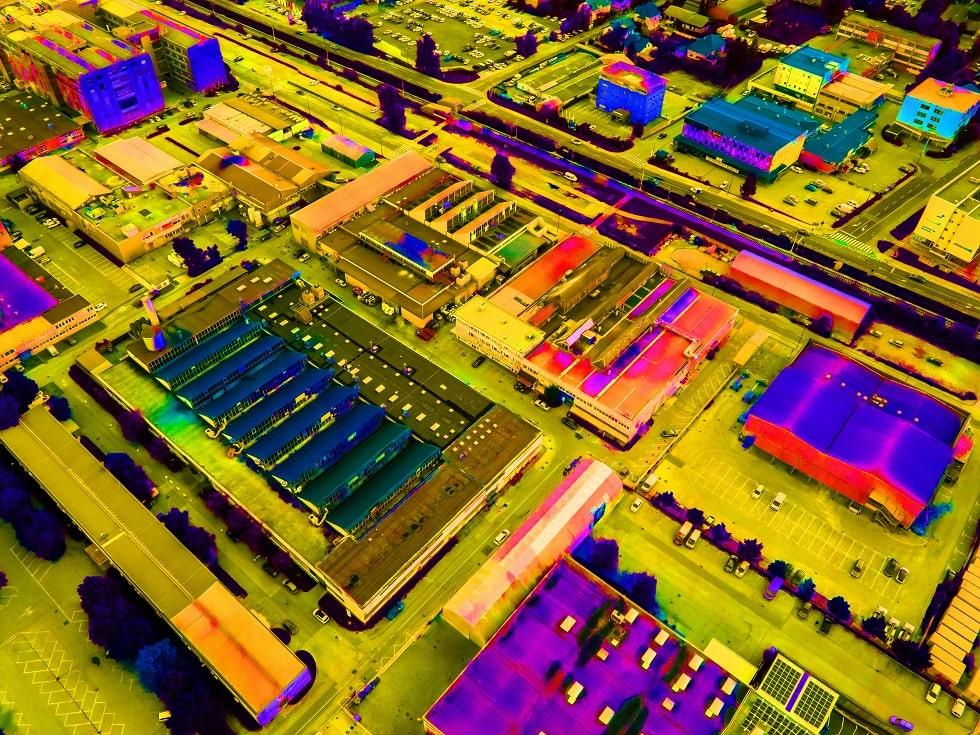 Badania termowizyjne z drona